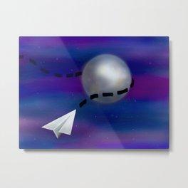 Cosmic Paper Flight Metal Print