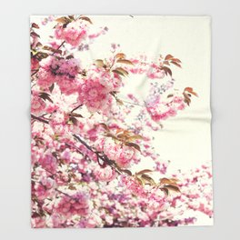 Cherry blossoms world Throw Blanket