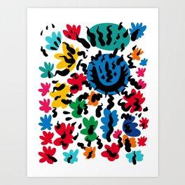 Wild Flowers Pattern Art Tribute to Matisse Art Print