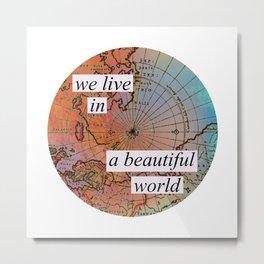 we live in a beautiful world Metal Print