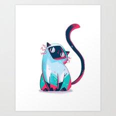 Siam Cat Art Print