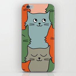 kitty pattern iPhone Skin