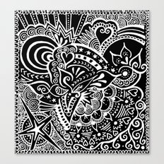 Rebirth Zentangle Canvas Print