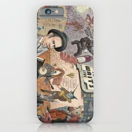 Tom Waits' Melodramatic Nocturnal Scene iPhone Case