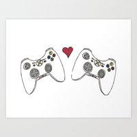 xbox Art Prints featuring XBOX LOVE by Betwixxt