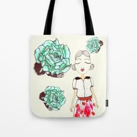 boba Tote Bags featuring Boba by causemepain