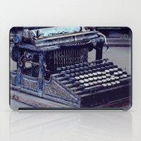 typewriter iPad Cases featuring Typewriter by Kerri Ann Crau