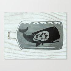 Whale in a Bottle | Ship's Wheel Canvas Print