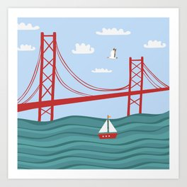 Lisbon bridge Art Print