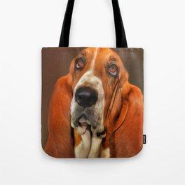Basset dog portrait Tote Bag