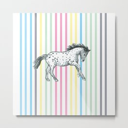 Candy cane horse Metal Print