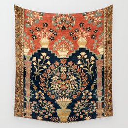 Kashan Poshti  Antique Central Persian Rug Print Wall Tapestry