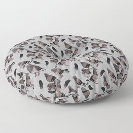 Pigeon Pattern 2 Floor Pillow