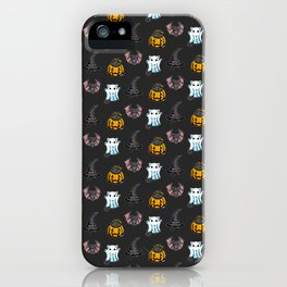 Cute Halloween Cat Kitten Bat Pattern iPhone Case