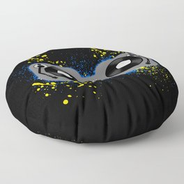 Blue and Yellow Turntables Floor Pillow