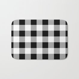 Black and White Check Bath Mat