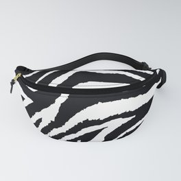 ZEBRA ANIMAL PRINT BLACK AND WHITE PATTERN Fanny Pack