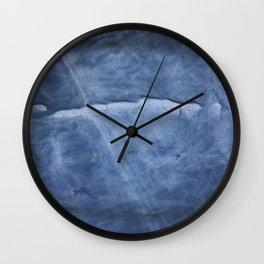 Dark slate blue Wall Clock