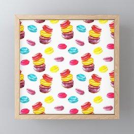 Sweet macaroons Framed Mini Art Print