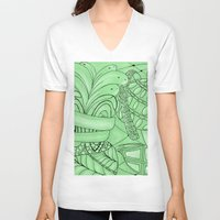 zentangle V-neck T-shirts featuring Zentangle by Annalisa Amato Art