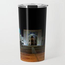 Registan square at night - Samarkand Travel Mug