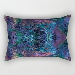 Violet snake skin pattern Rectangular Pillow