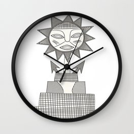 God of Sun Wall Clock
