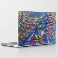 grid Laptop & iPad Skins featuring Grid by Heather Plewes Art