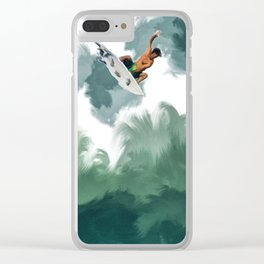 SUN SURF LIFE Clear iPhone Case