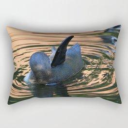 Penguin in the evening sun Rectangular Pillow