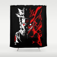 naruto Shower Curtains featuring Naruto by offbeatzombie