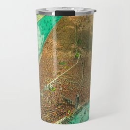 Retro New York Print Travel Mug