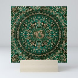 Ek Onkar / Ik Onkar Malachite and gold Mini Art Print