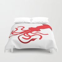 squid Duvet Covers featuring Squid by AlanDalby