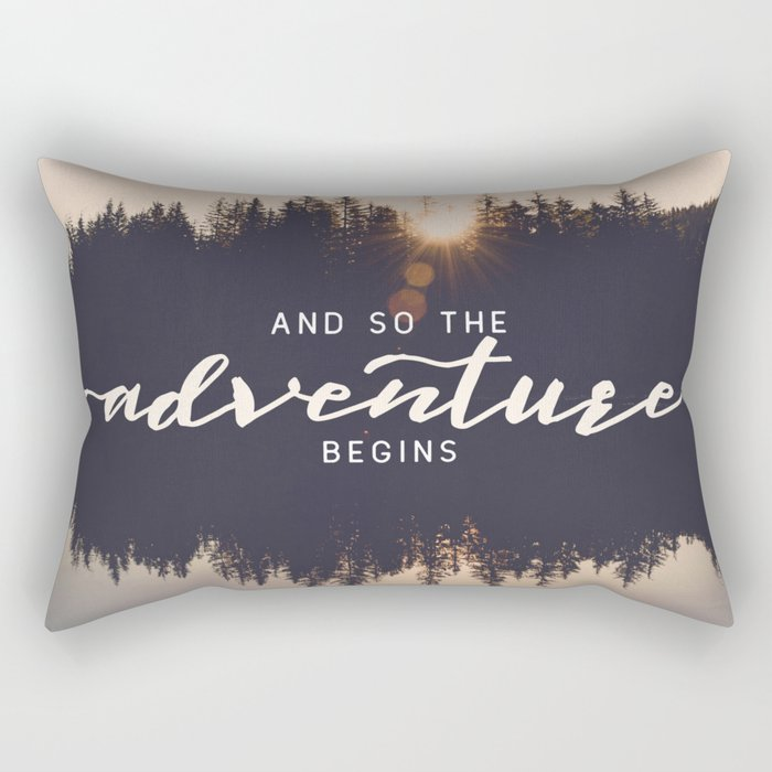 And So the Adventure Begins II Rectangular Pillow