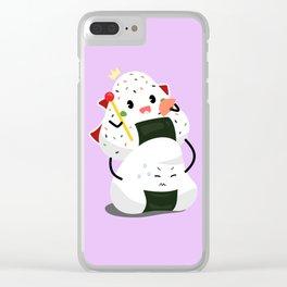 Royal Onigiri Clear iPhone Case