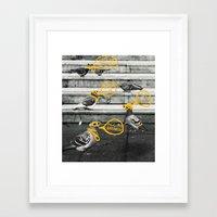 gangster Framed Art Prints featuring Gangster Pigeons by Wonder of Wild