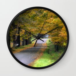 Autumn Journey Wall Clock