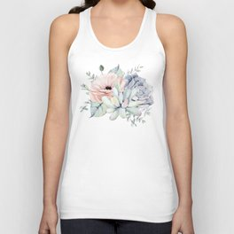 Pretty Succulents by Nature Magick Unisex Tank Top