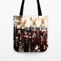 it crowd Tote Bags featuring Crowd by YM_Art by Yv✿n / aka Yanieck Mariani