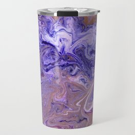 Purple Marble Swirls Travel Mug
