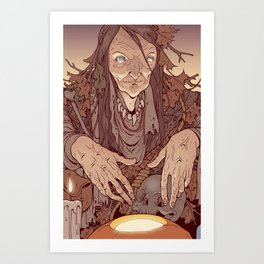 The Bog Witch Art Print