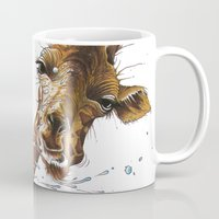 giraffe Mugs featuring Giraffe by TAOJB