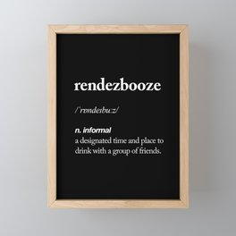 Rendezbooze black and white contemporary minimalism typography design home wall decor black-white Framed Mini Art Print