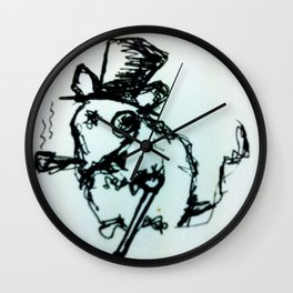 Scribble Mouse Wall Clock