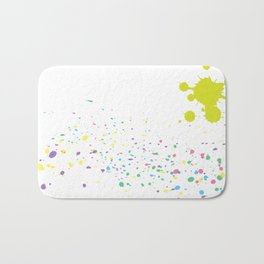 Background with colorful splashes Bath Mat
