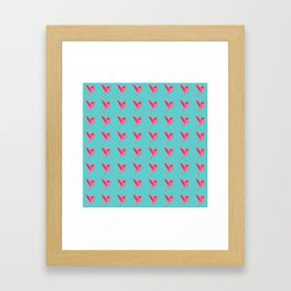 Pink birds flying pattern Framed Art Print