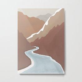 Mountain Mood Metal Print