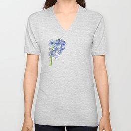 blooming bluebells Unisex V-Neck