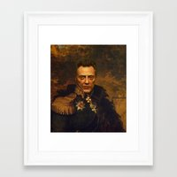 replaceface Framed Art Prints featuring Christopher Walken - replaceface by replaceface